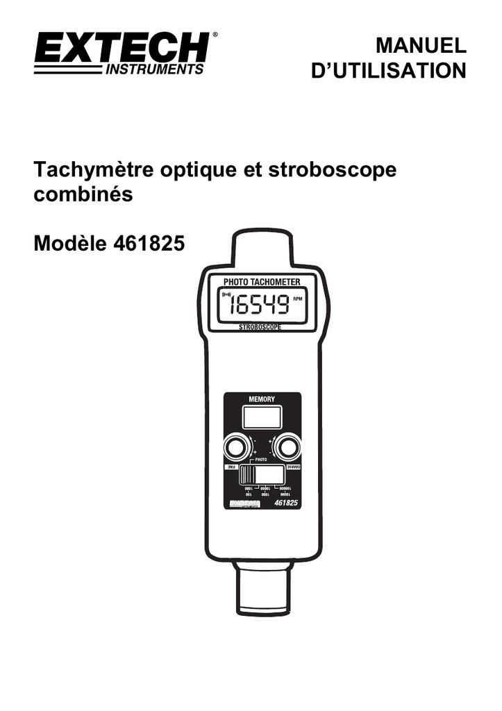 MANUEL D`UTILISATION Tachymètre optique et stroboscope