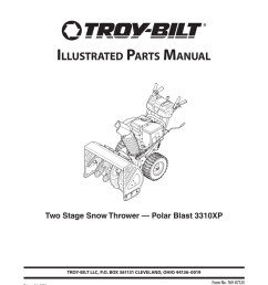 illustrated parts manual two stage snow [ 791 x 1024 Pixel ]