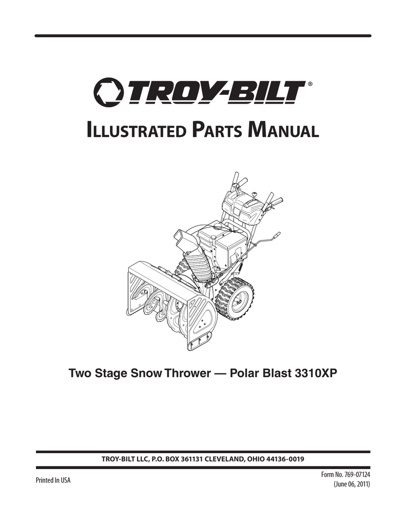 medium resolution of illustrated parts manual two stage snow
