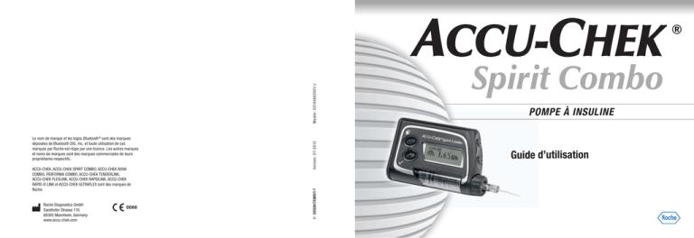 Pompe à insuline Accu-Chek Spirit Combo—Manuel d