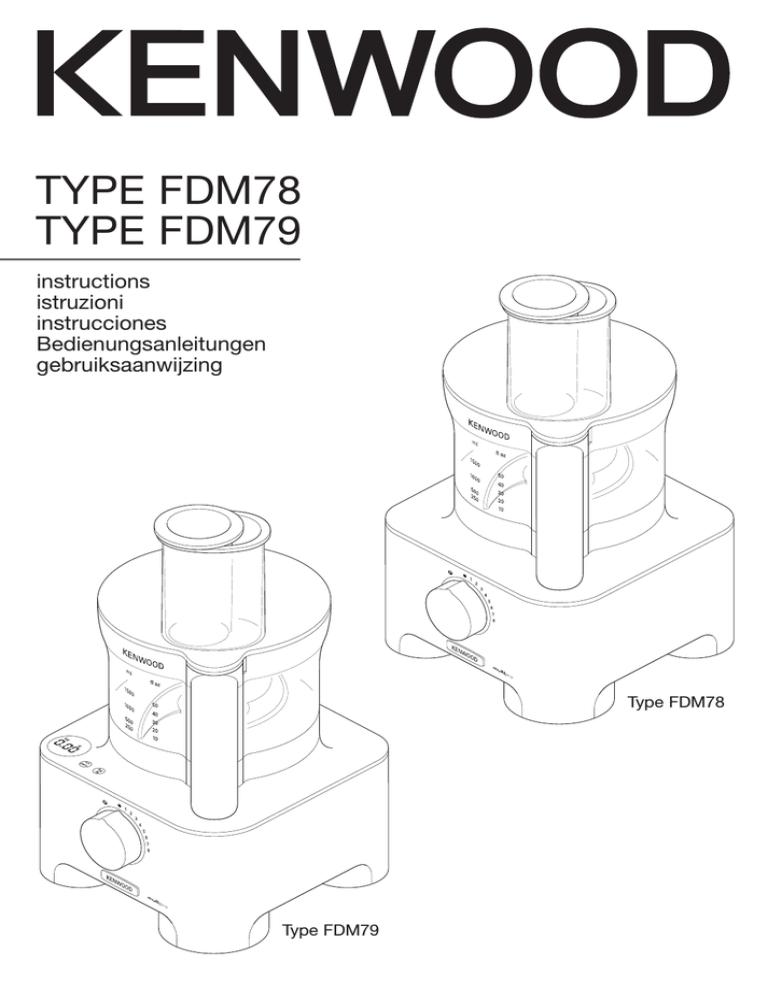 Kenwood FDM786, FDM791BA, FDM780BA, FDM790BA, FDM781BA