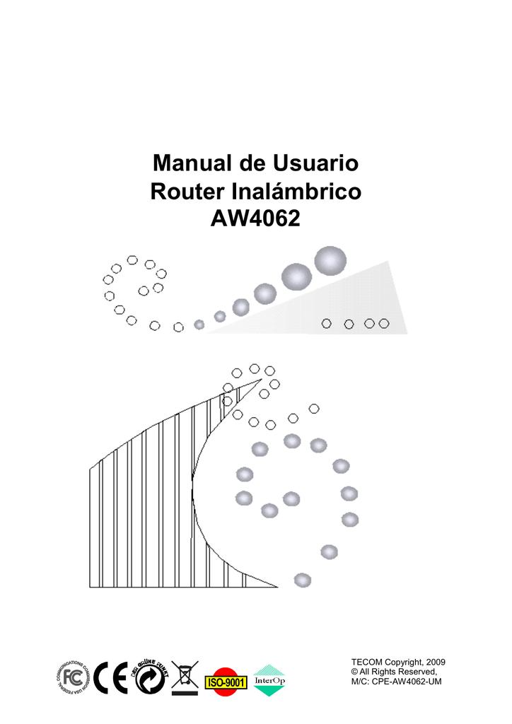 Manual de usuario del fabricante router Observa AW4062