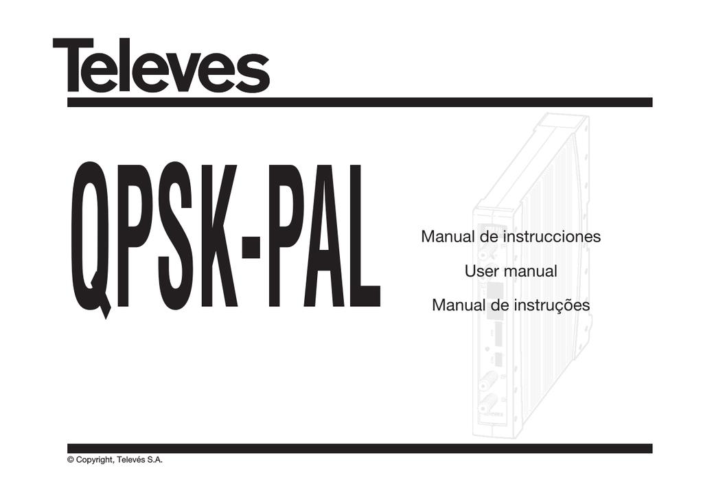 Manual de instrucciones User manual Manual de instruções