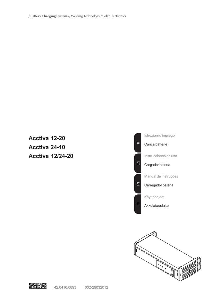 Acctiva 12-20, Acctiva 24-10, Acctiva 12/24-20 [42,0410
