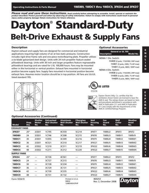 small resolution of dayton standard duty