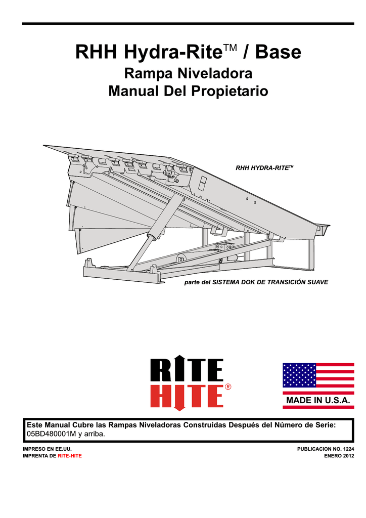 RHH Hydra-RiteTM / Base Rampa Niveladora Manual Del