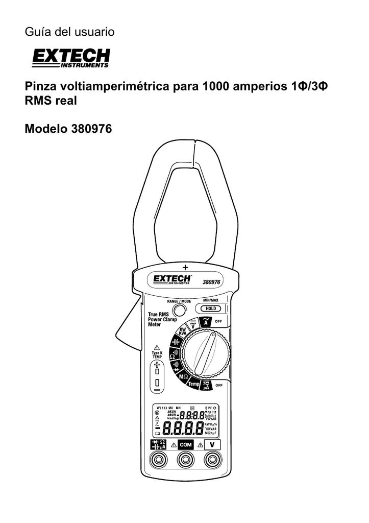 Guía del usuario Pinza voltiamperimétrica para 1000