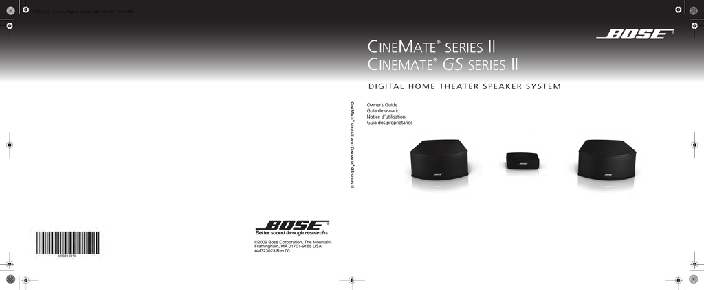 Bose CineMate GS Series II, CineMate Series II User manual