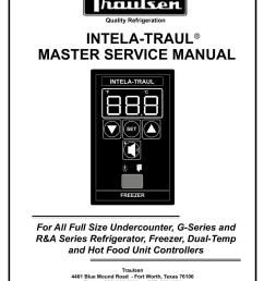traulsen master service manual [ 791 x 1024 Pixel ]