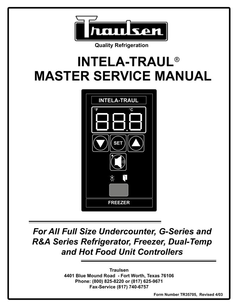 hight resolution of traulsen master service manual