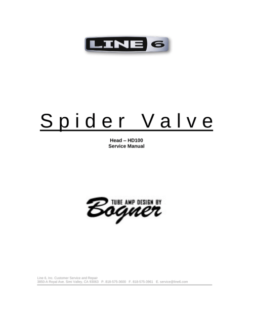 small resolution of spider valve service manual