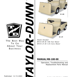 taylor dunn b 100 manual manualzz com taylor dunn wiring diagram 210b [ 791 x 1024 Pixel ]