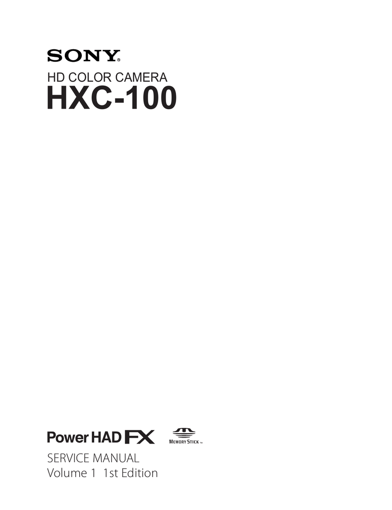 hight resolution of hxc 100 service manual volume 1 vox manualzz com sony ccu intercom wiring harness