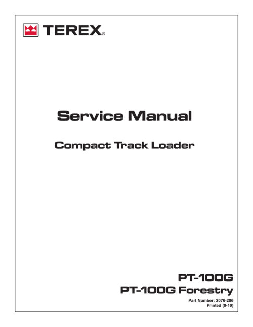 small resolution of pn 2076 286 manualzz com terex parts catalog terex pt 100g wiring diagram