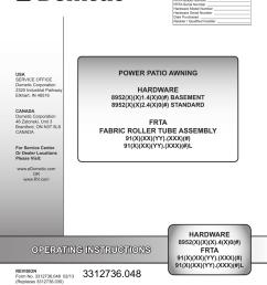 dometic 9100 power awning manual [ 791 x 1024 Pixel ]