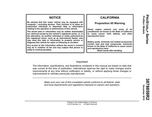 small resolution of international pro star operator s manual