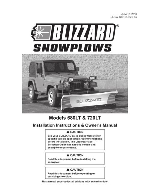small resolution of  wiring diagram on om ii straight blade snowplow models 680lt 720lt manualzz com on