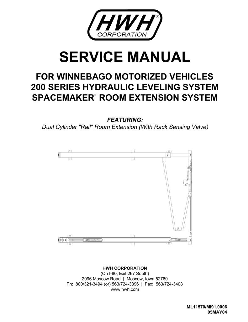 hight resolution of service manual hwh corporation