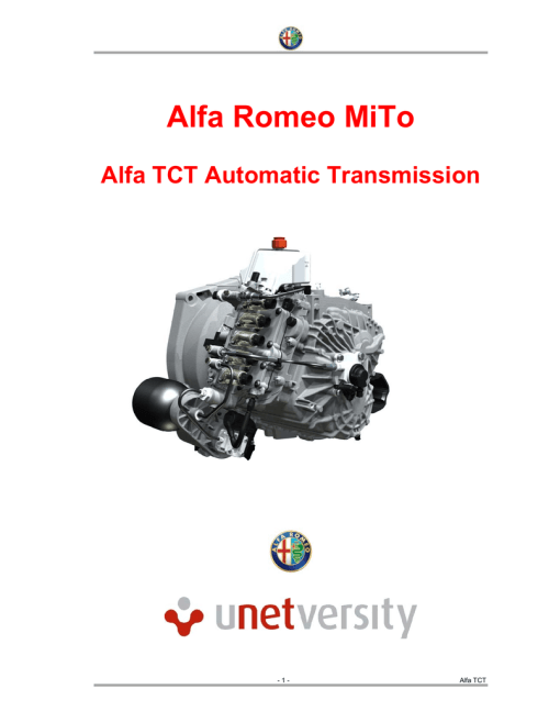 small resolution of alfa romeo mito alfa tct automatic transmission 1 alfa tct document changes updates date contact file name description of change 2010 fiat group