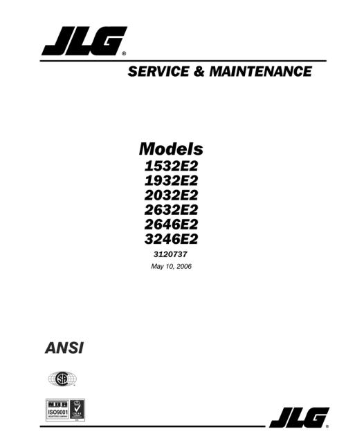small resolution of jlg 1532e2 1932e2 2032e2 2632e2 2646e2 3246e2 sm 2006 manualzz com jlg 2632e2 wiring diagram
