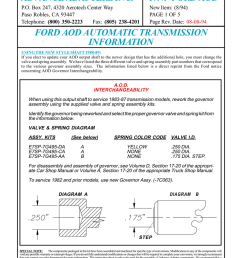 advance adapters inc p n ford aod ford aod automatic transmission [ 791 x 1024 Pixel ]