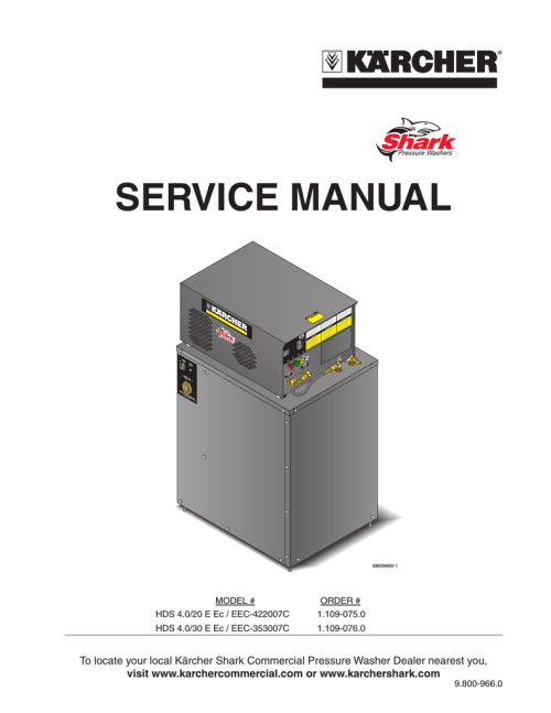 small resolution of service manual shark pressure washers