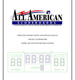 operating instructions and service manual hockey scoreboard model [ 791 x 1024 Pixel ]