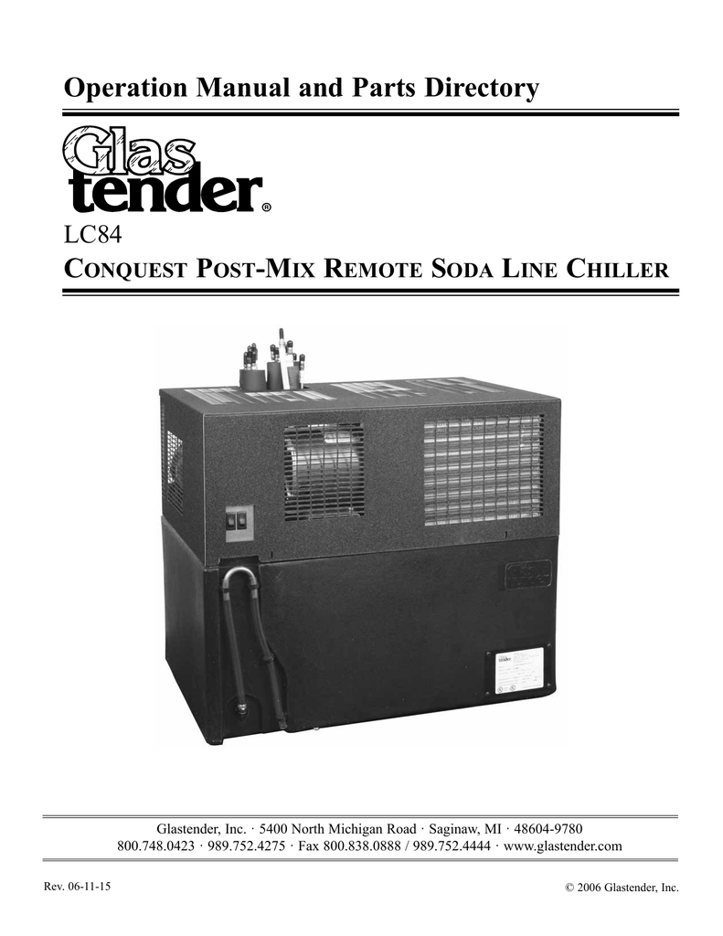 medium resolution of conquest post mix remote soda line chiller