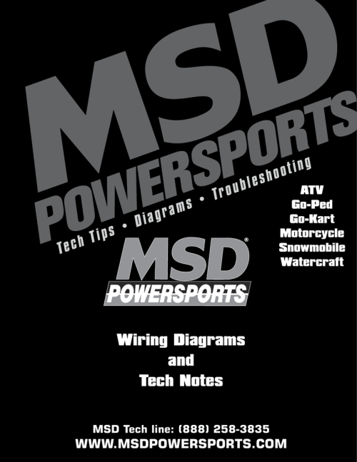 small resolution of msd tech line msd powersports