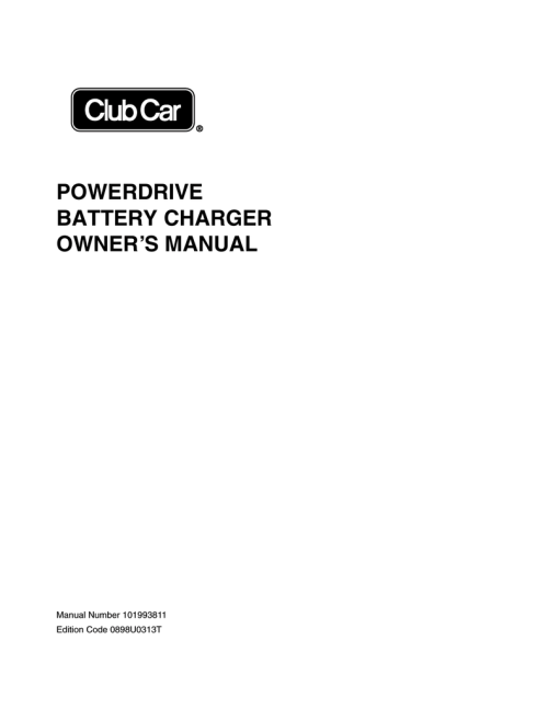 small resolution of powerdrive battery charger owner s manual club car side