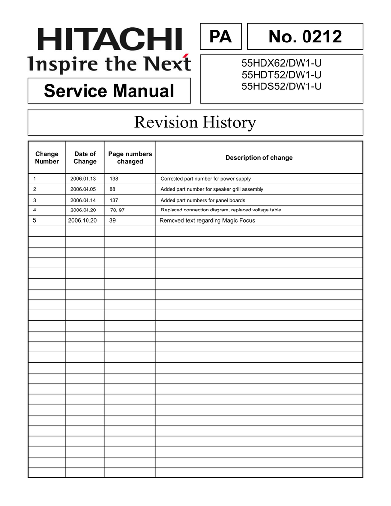 hight resolution of 0212 service manual revision history manualzz com