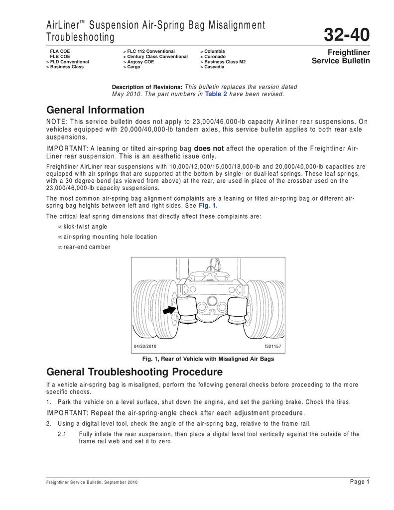 medium resolution of airliner suspension air spring bag misalignment troubleshooting
