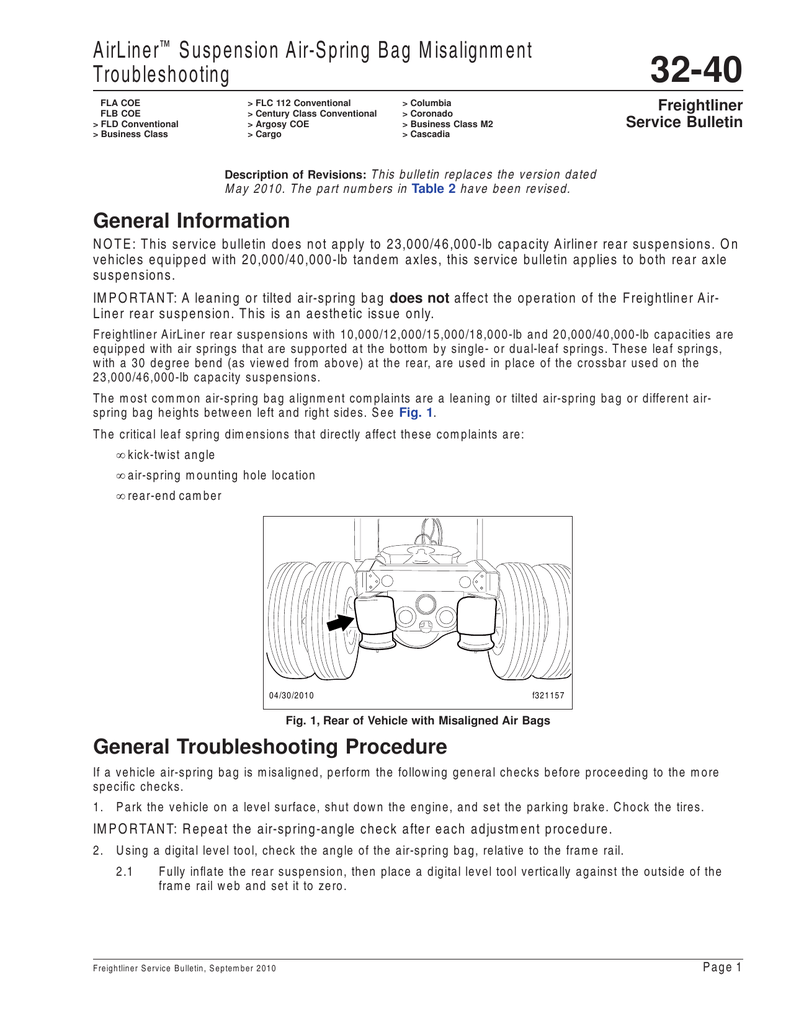 hight resolution of airliner suspension air spring bag misalignment troubleshooting
