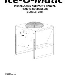 vrc remote condenser parts manual ice o [ 791 x 1024 Pixel ]