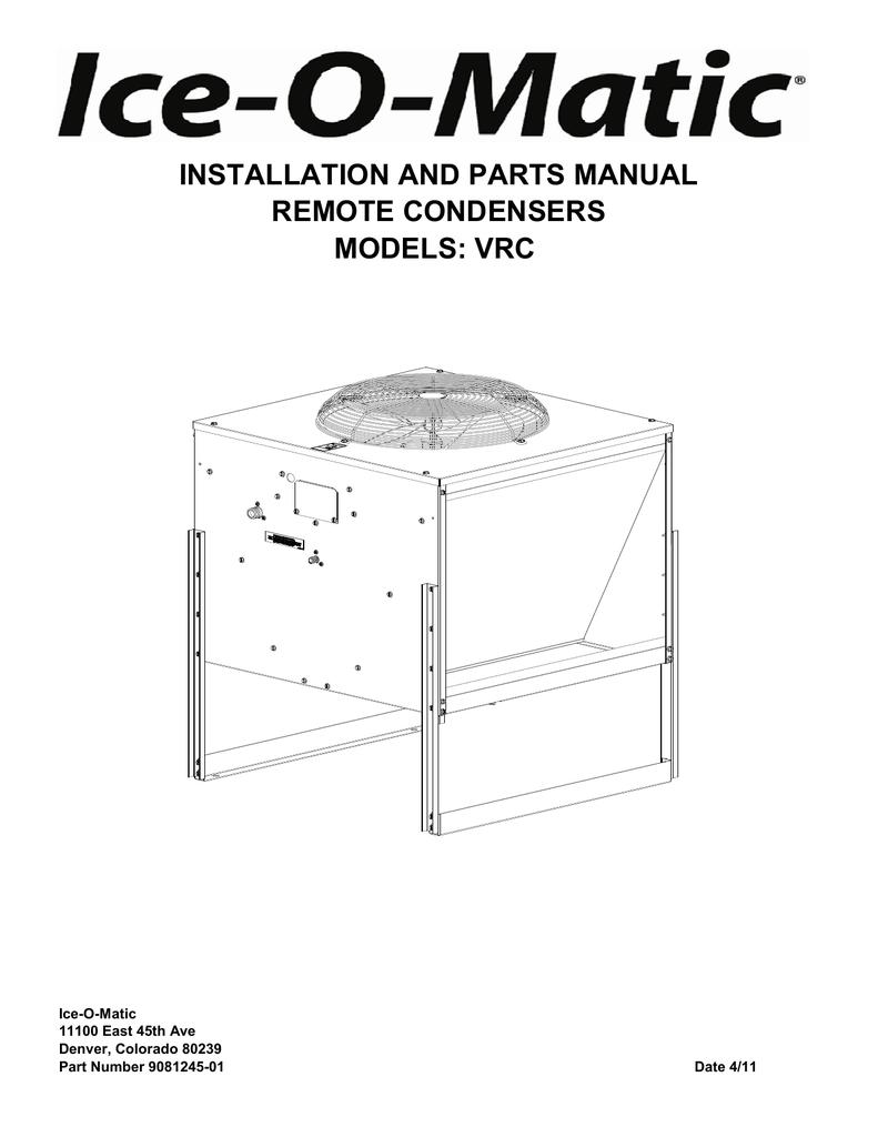 medium resolution of vrc remote condenser parts manual ice o