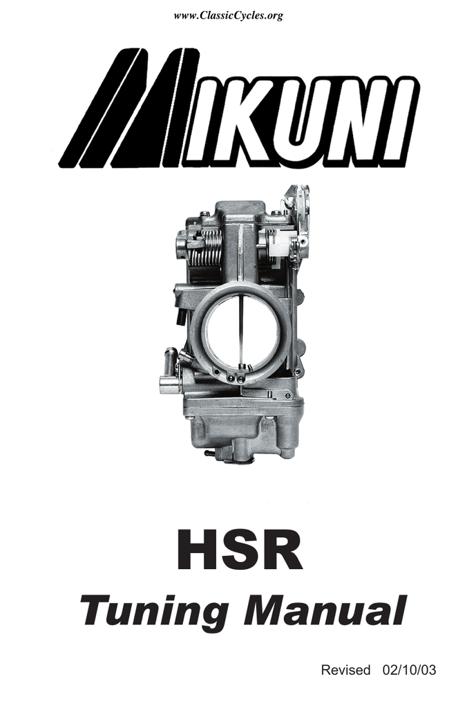 mikuni bs carburetor manual