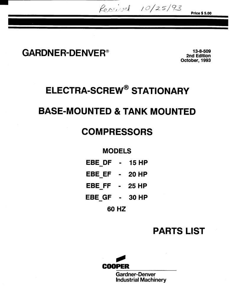 hight resolution of 13 8 509 2 electra screw stationary base