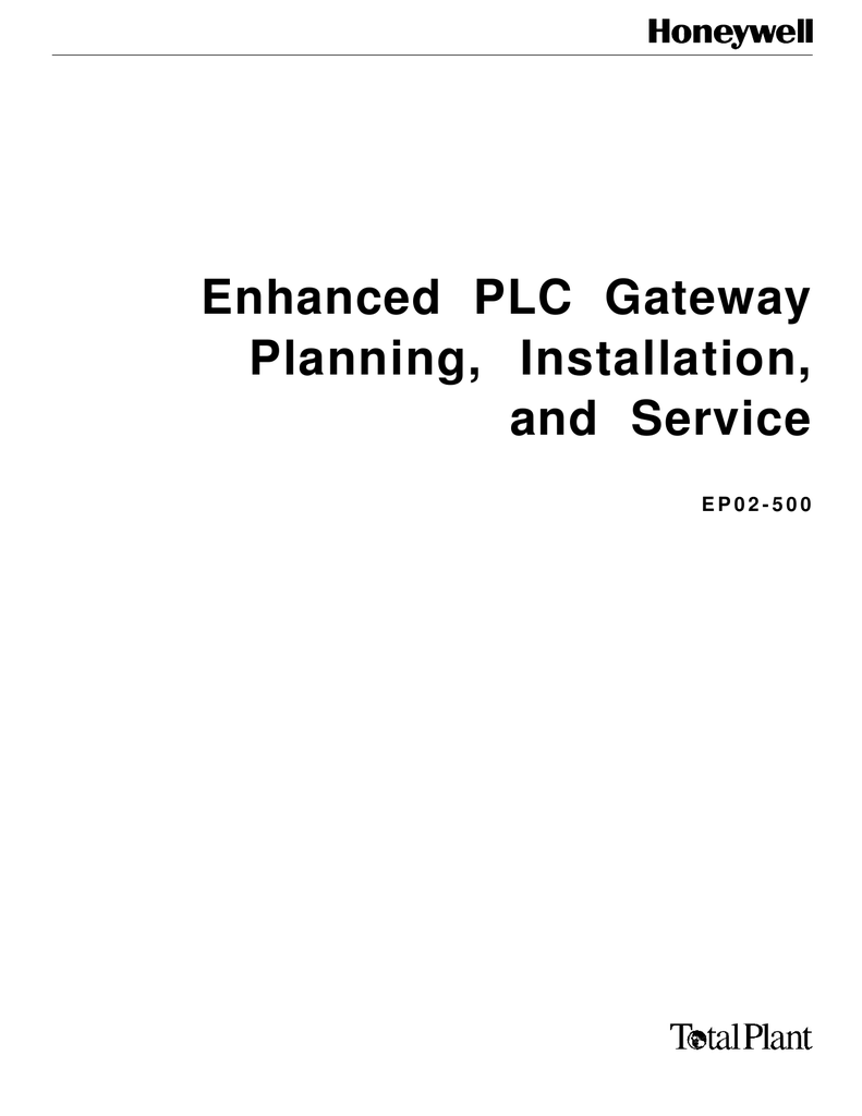 Enhanced PLC Gateway Planning, Installation and Service