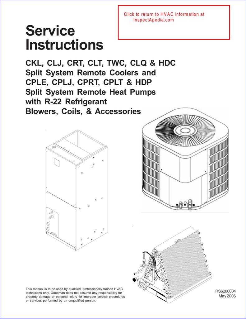 medium resolution of goodman a c unit service instructions