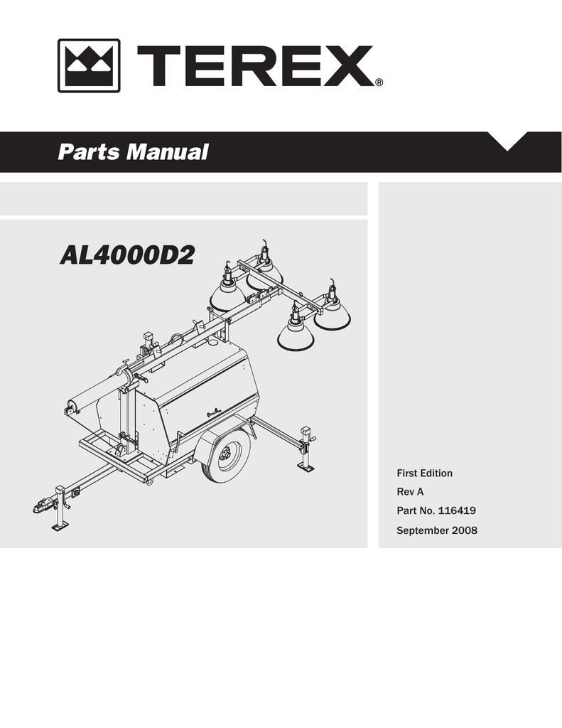 hight resolution of al4000 light tower parts manual al4000d2 manualzz com