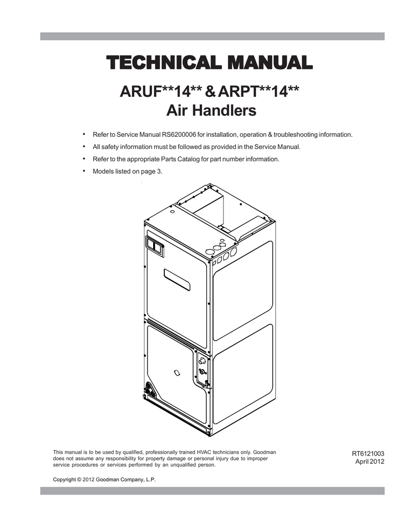 Goodman Aspt Air Handler Wiring Diagram. Goodman Ac Wiring