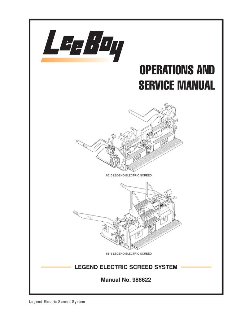 Leeboy Engine Manual