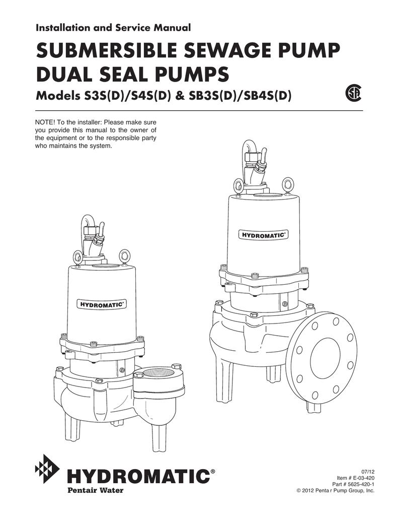 medium resolution of submersible sewage pump dual seal pumps