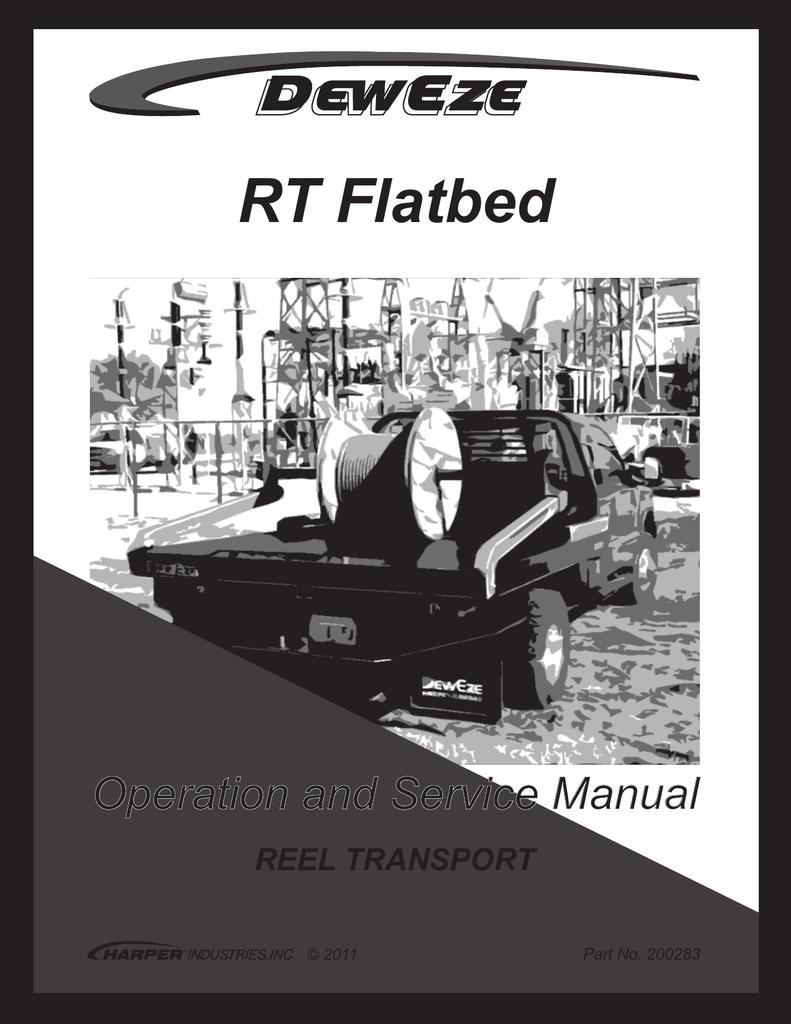 medium resolution of rt flatbed reel transport manualzz com deweze wiring diagram