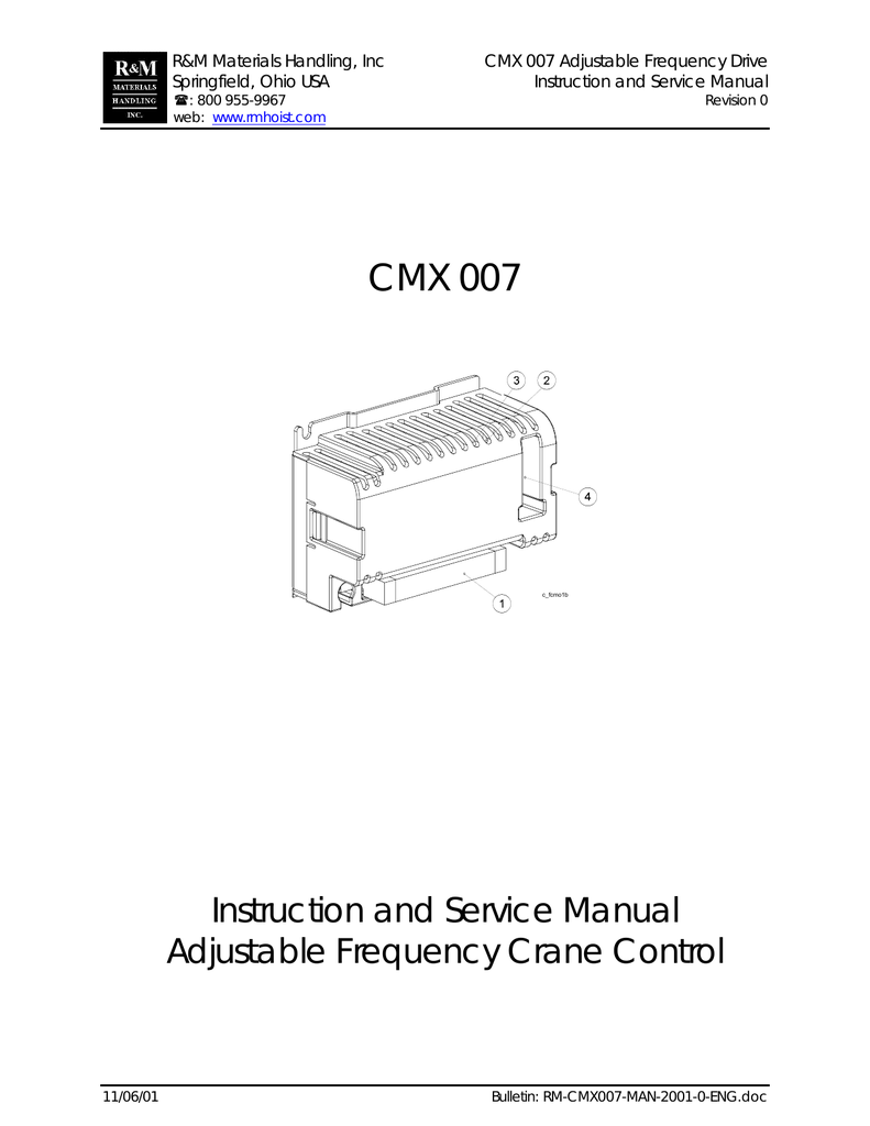 medium resolution of cmx 007 instructions service manual for adjustable frequency