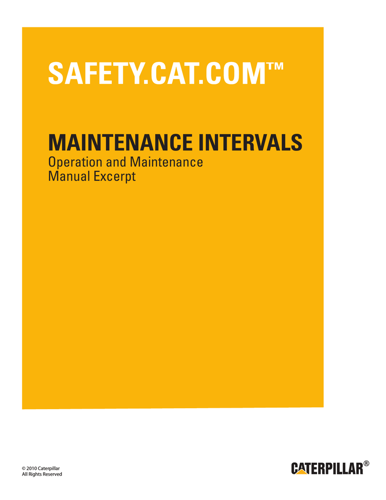 medium resolution of 3406c generator sets maintenance intervals safety
