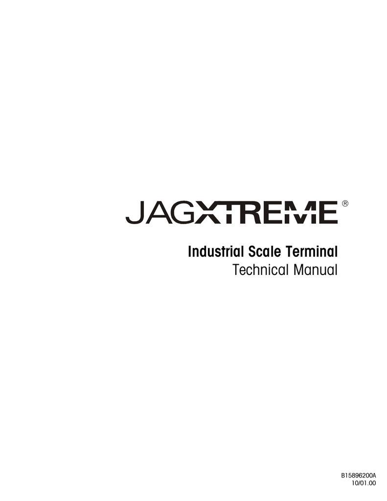 medium resolution of mettler toledo jaguar service manual