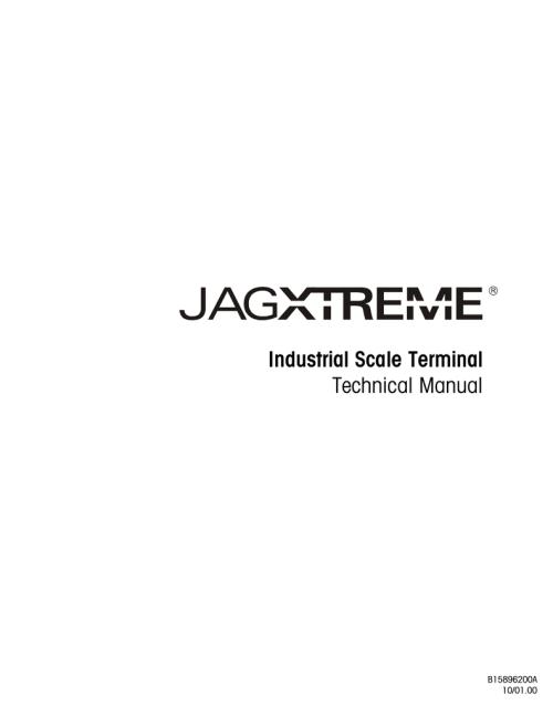 small resolution of mettler toledo jaguar service manual