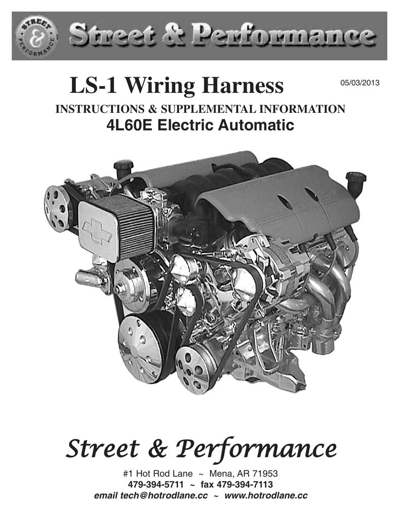 hight resolution of ls 1 wiring harness street performance manualzz com street and performance lt1 wiring harness