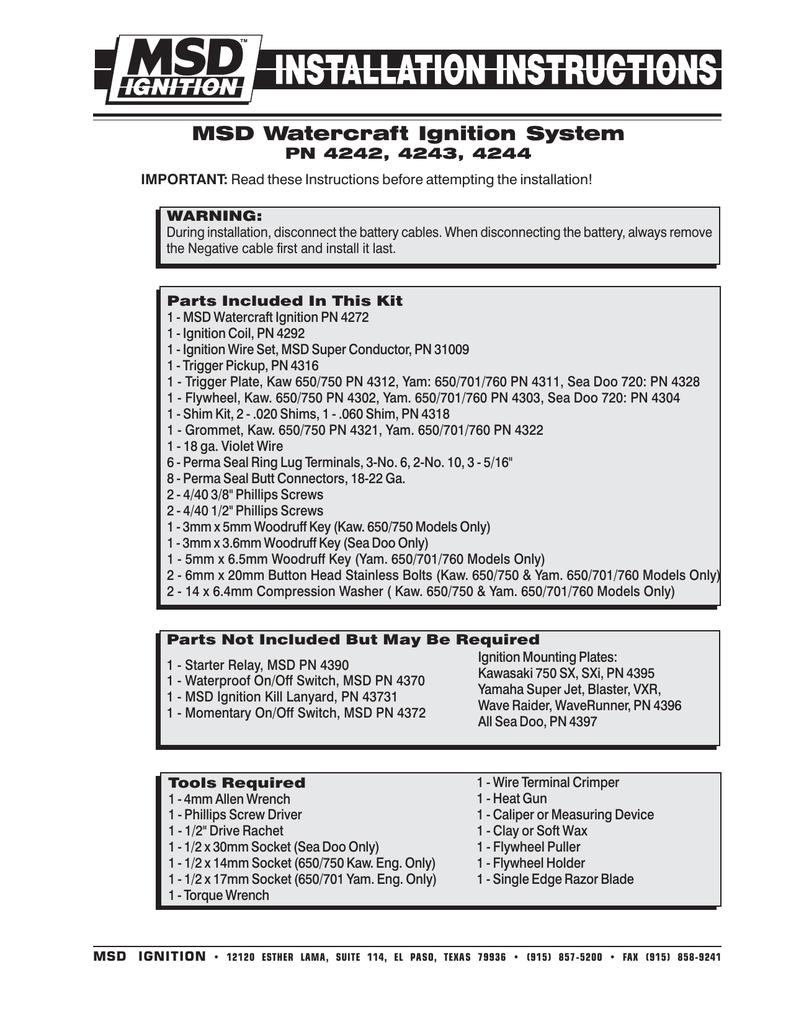 medium resolution of msd watercraft ignition system